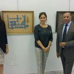 محمد بغدادي وبصحبته قرينة سفير بلجيكا وقريبنة سفير ايطاليا بالكويت